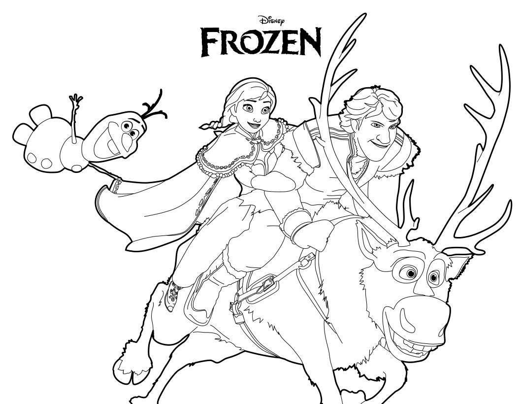 Frozen Disegni Da Stampare E Colorare