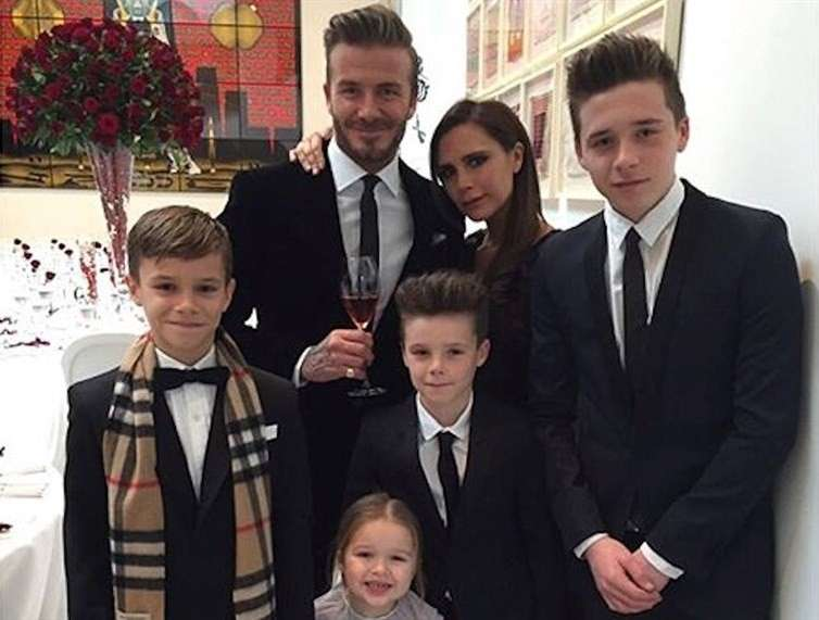 La bellissima famiglia vip inglese sui social