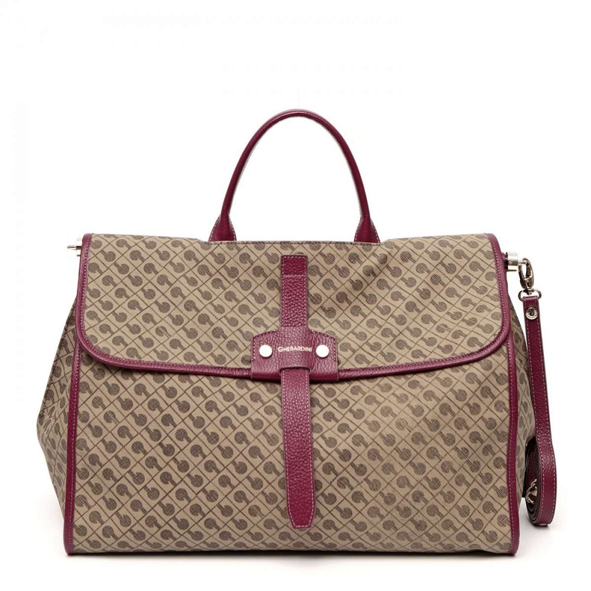 Handbag con profili malva Gherardini