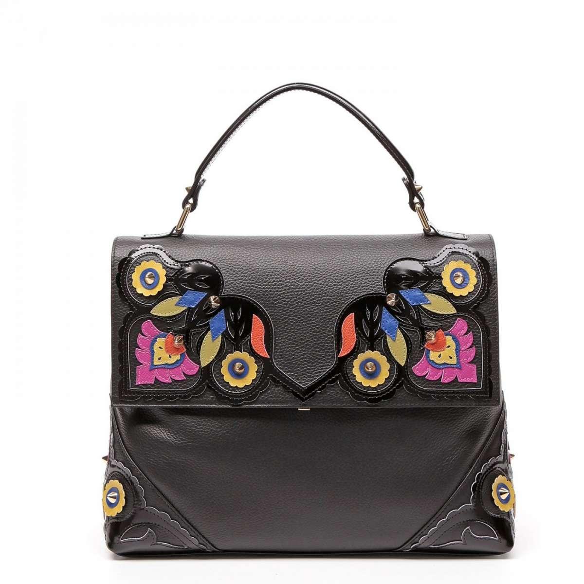 Handbag nera Braccialini