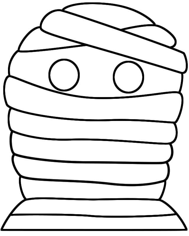 Mummia da stampare e ritagliare