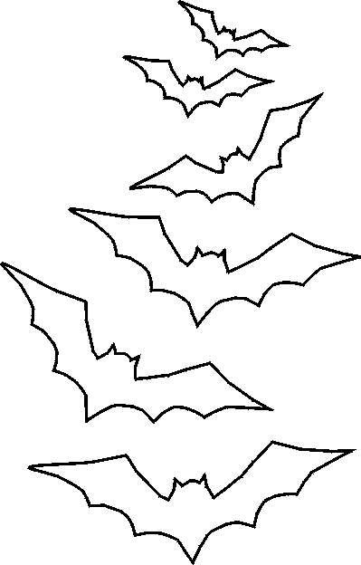 Pipistrelli da stampare e ritagliare