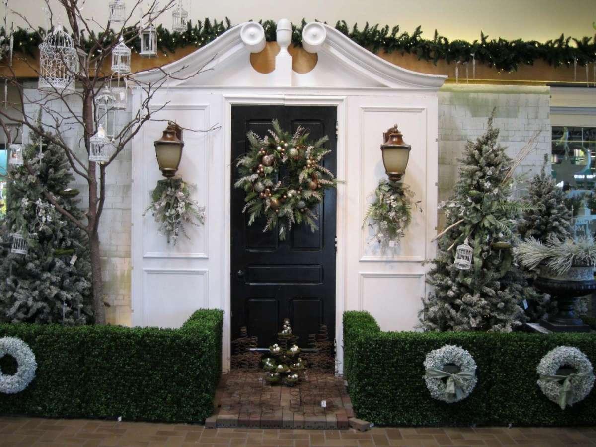 Esterno decorato a Natale