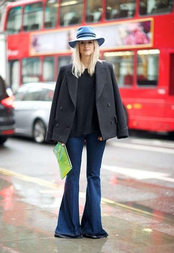 Jeans zampa lunghi