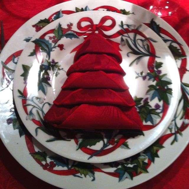 Albero natalizio con tovagliolo