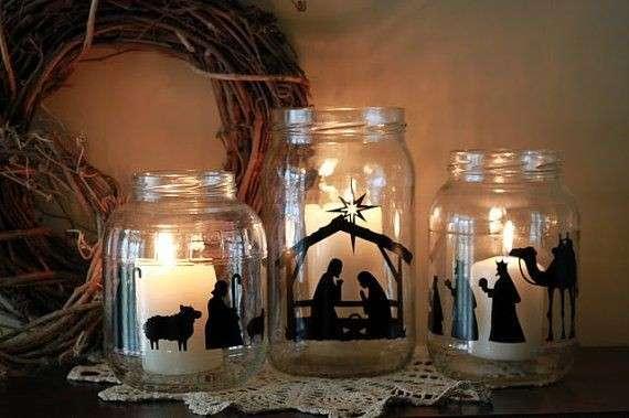 Barattoli di vetro decorati