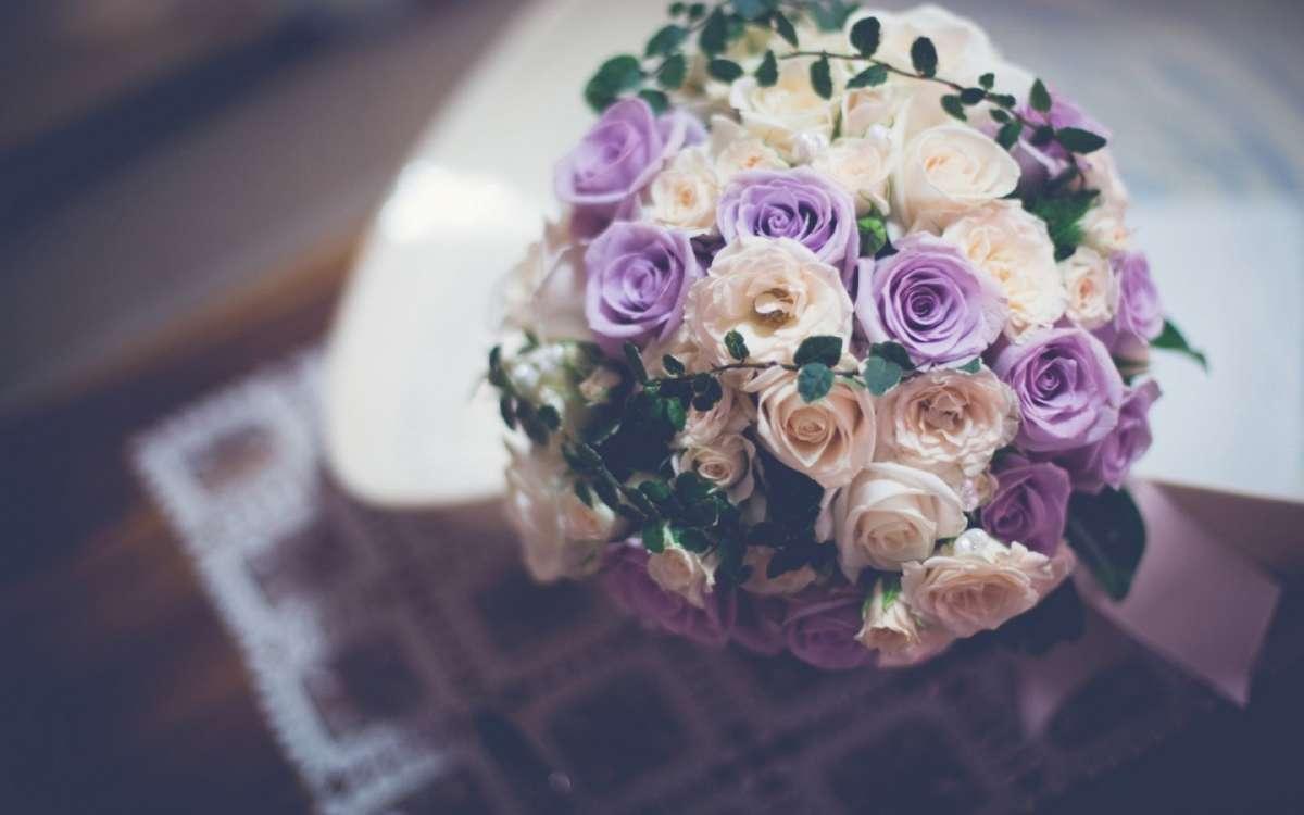 Bouquet da sposa lilla