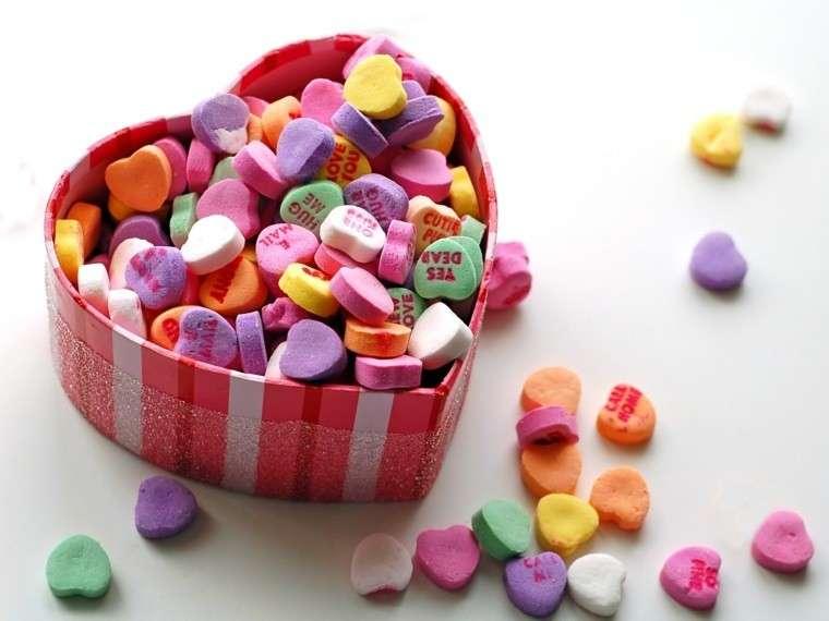 Caramelle a forma di cuore