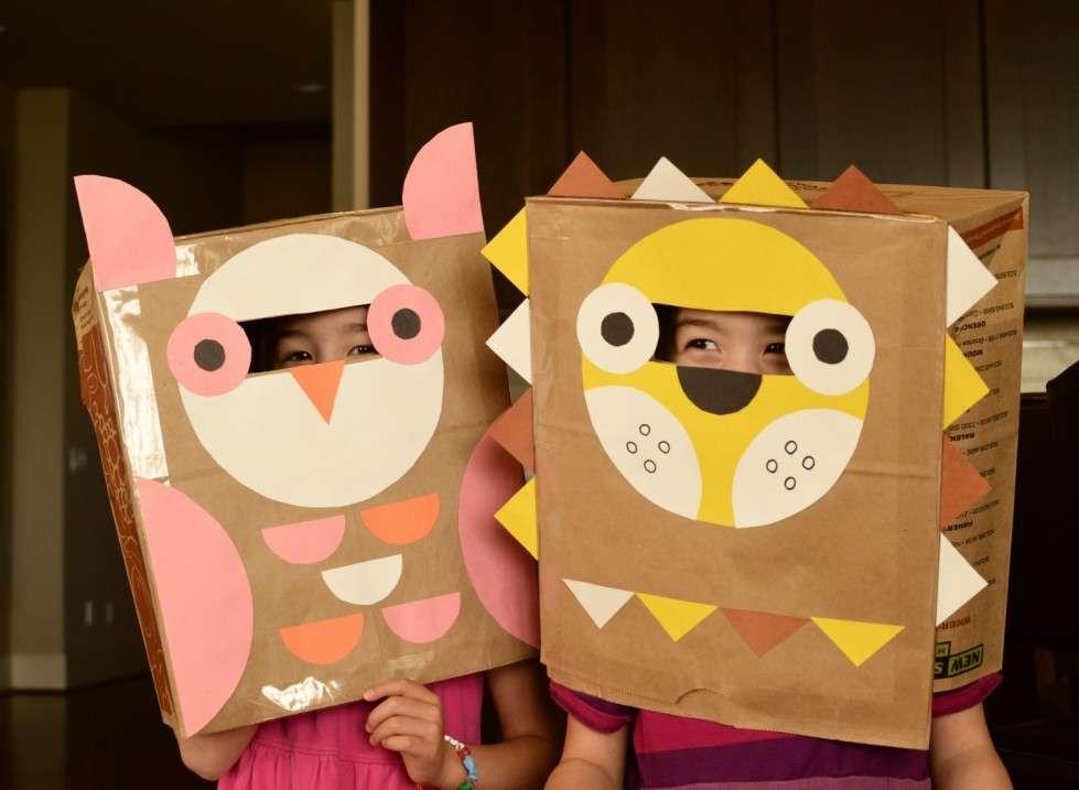 Carnevale maschere di carta bambini