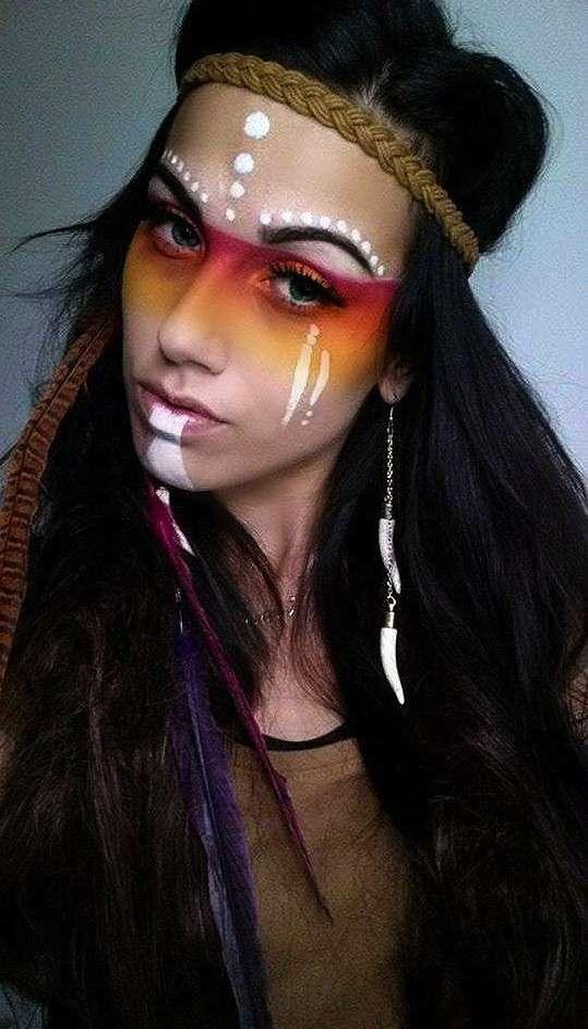 Make up da nativa americana