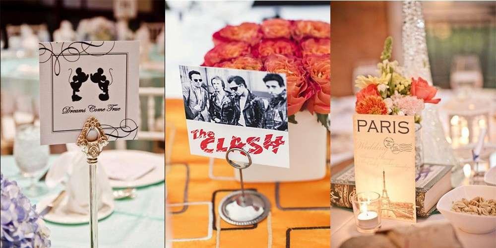 Nomi dei tavoli: idee
