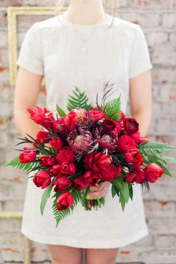 Bouquet ampio variegato