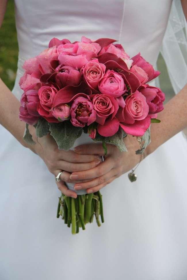 Bouquet da sposa rosato
