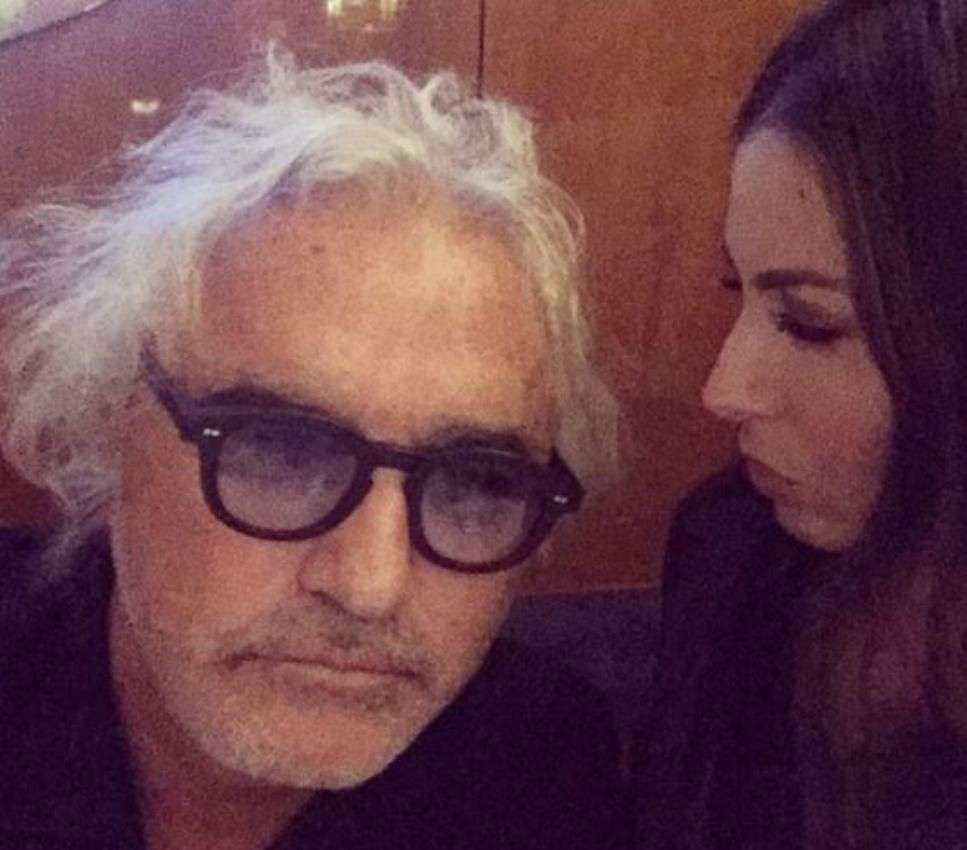 Flavio Briatore con la moglie Elisabetta Gregoraci