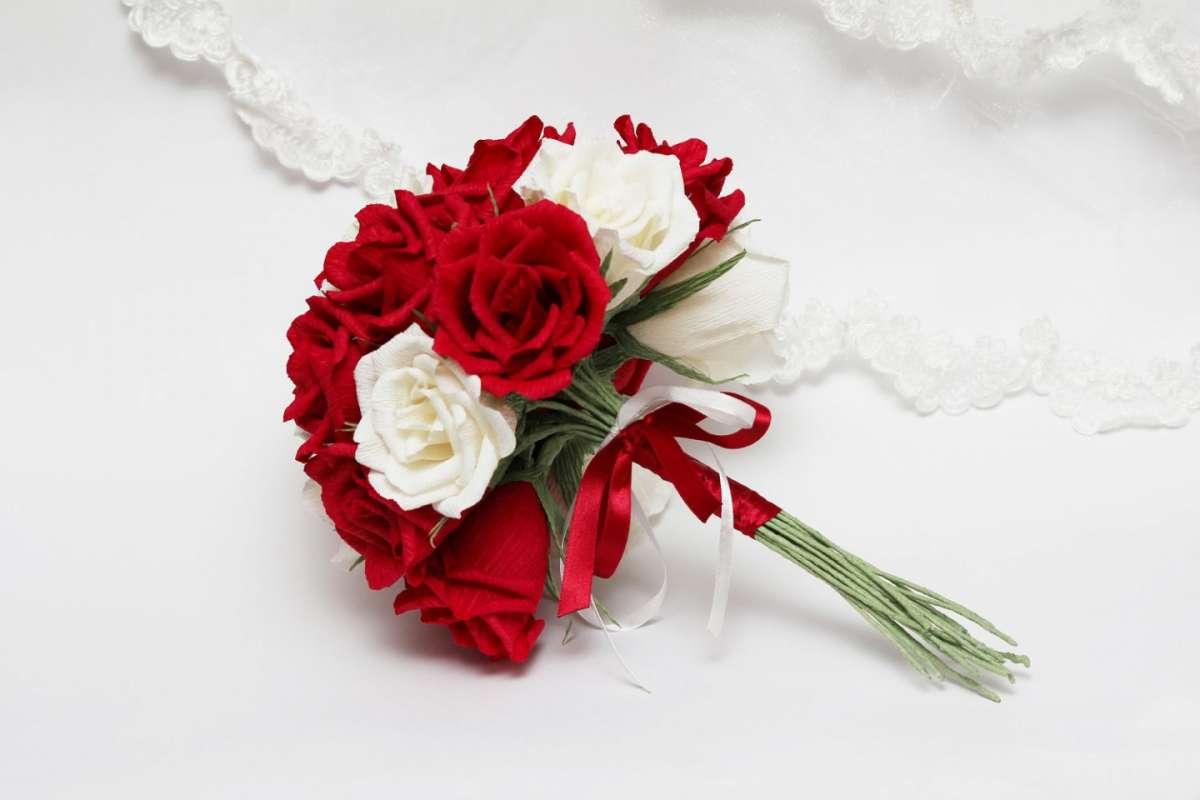 Piccolo Bouquet da sposa rosso e bianco