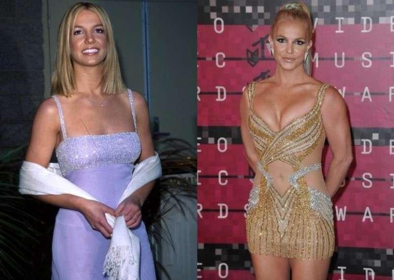 Britney Spears ieri e oggi