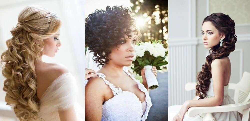 Capelli ricci per la sposa