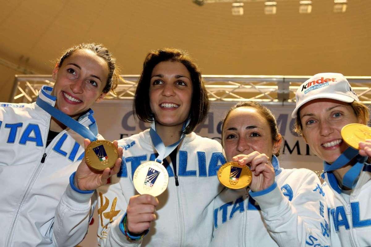 Di Francisca, Errigo, Salvatori, Valentina Vezzali vincono la Coppa del Mondo 2010