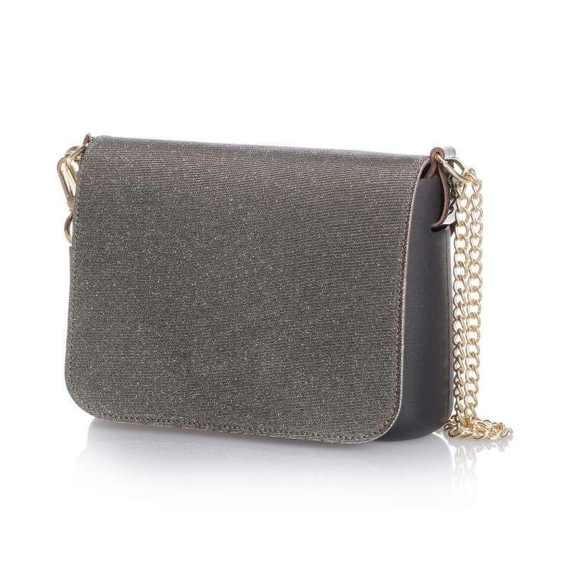Messenger glitter O Bag Fullspot grigia