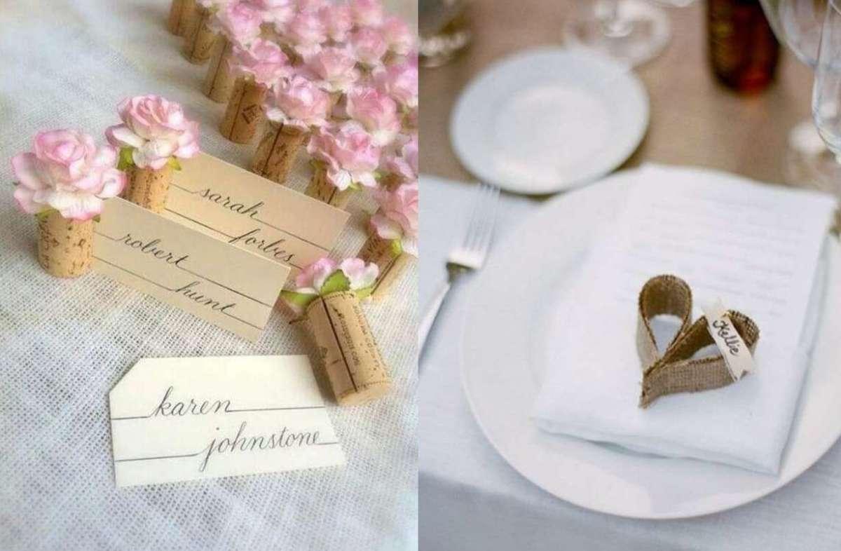 Segnaposto Matrimonio Fai Da Te Originali.Segnaposto Per Il Matrimonio Fai Da Te