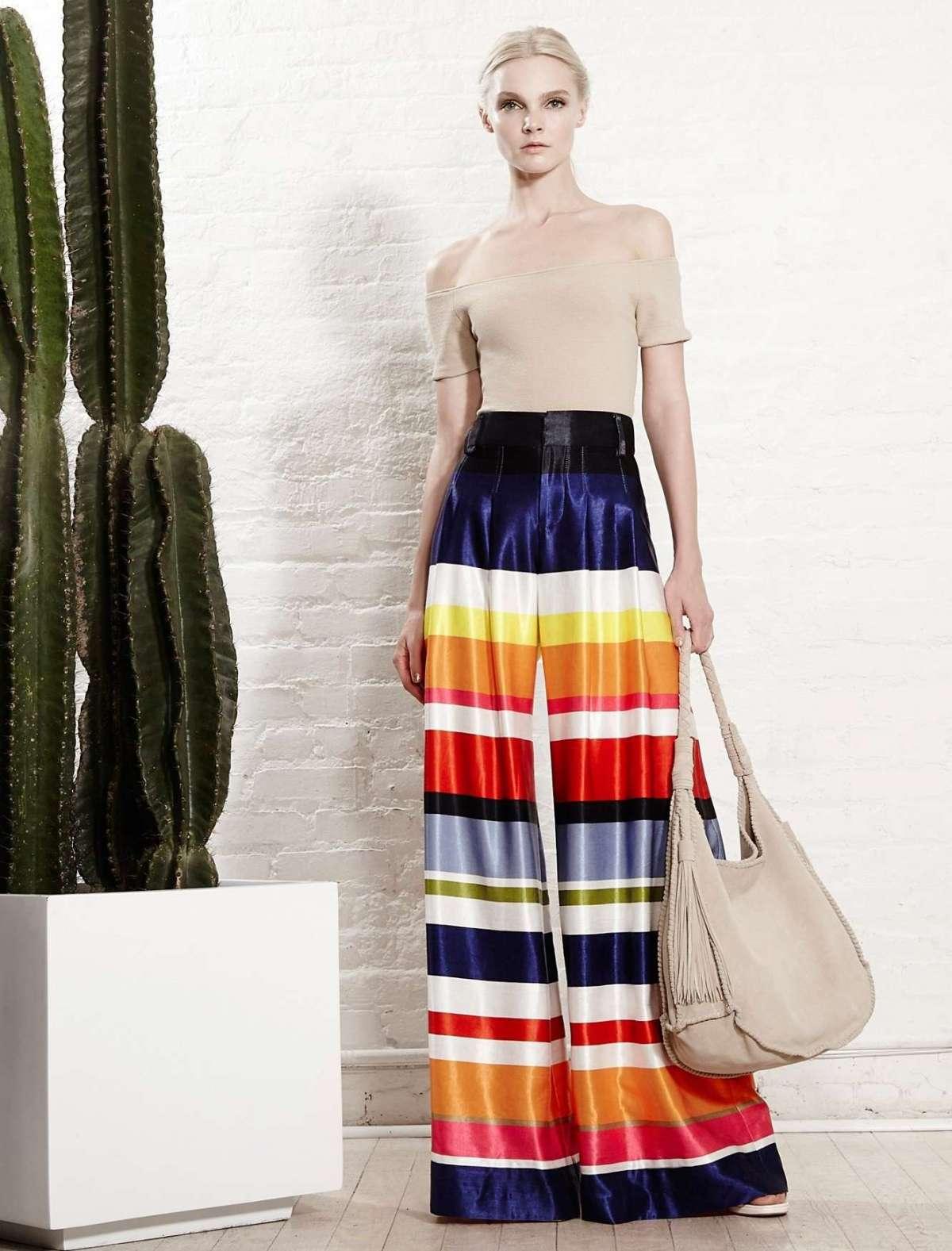 Pantaloni a palazzo multicolor