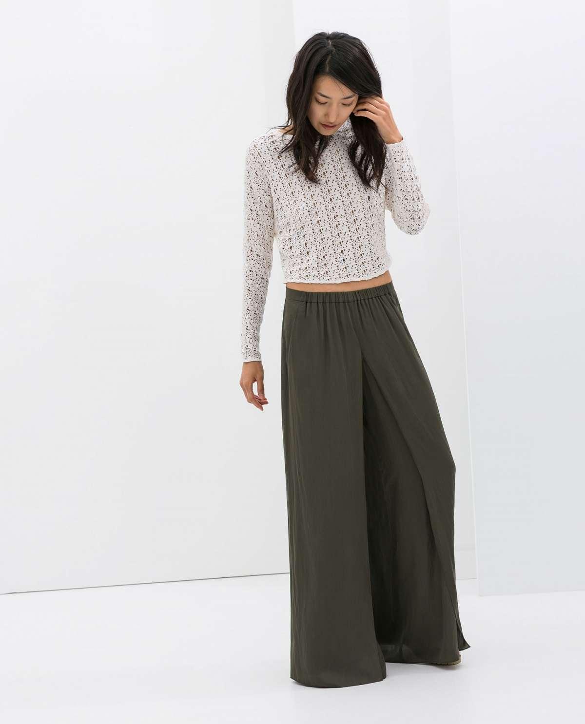 Pantaloni a palazzo Zara con elastico