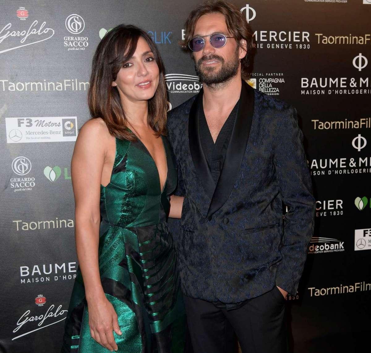 Ambra Angiolini e Lorenzo Quaglia sul red carpet