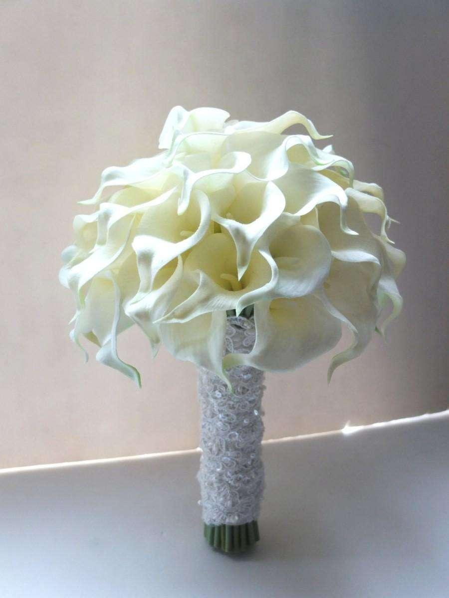 Bouquet bianco chic