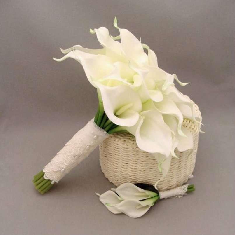 Bouquet chic bianco