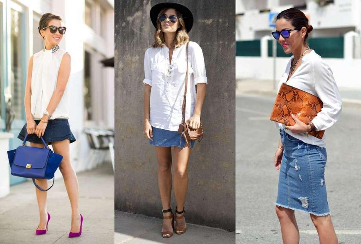 Come abbinare la minigonna di jeans