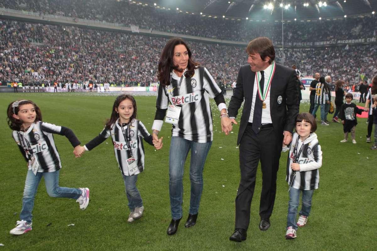 Elisabetta Muscarello con il marito e la figlia allo stadio della Juve