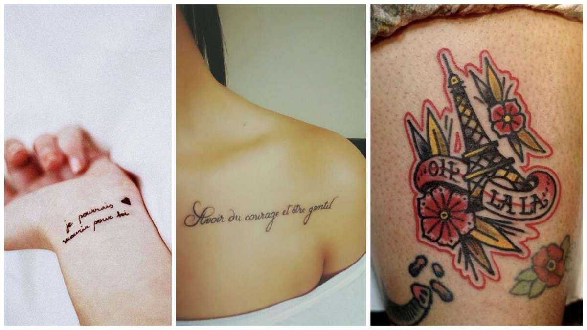 Tatuaggi frasi in francese, le idee più belle