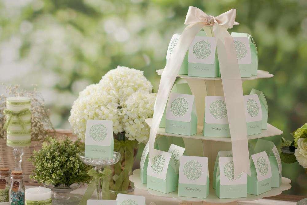 Bomboniere verdi per il matrimonio