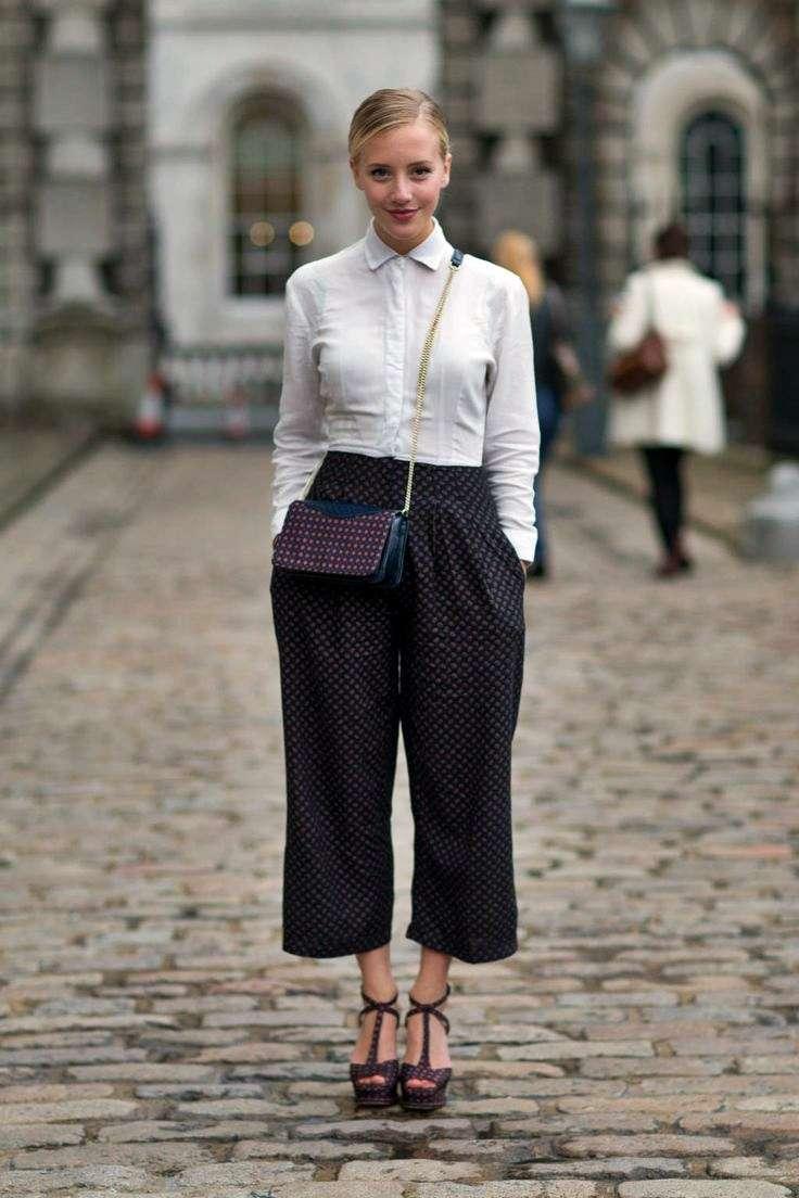 Camicia e pantaloni culotte