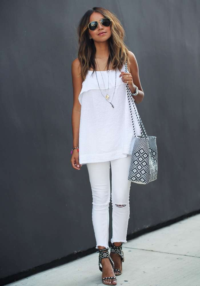 Look da giorno in total white