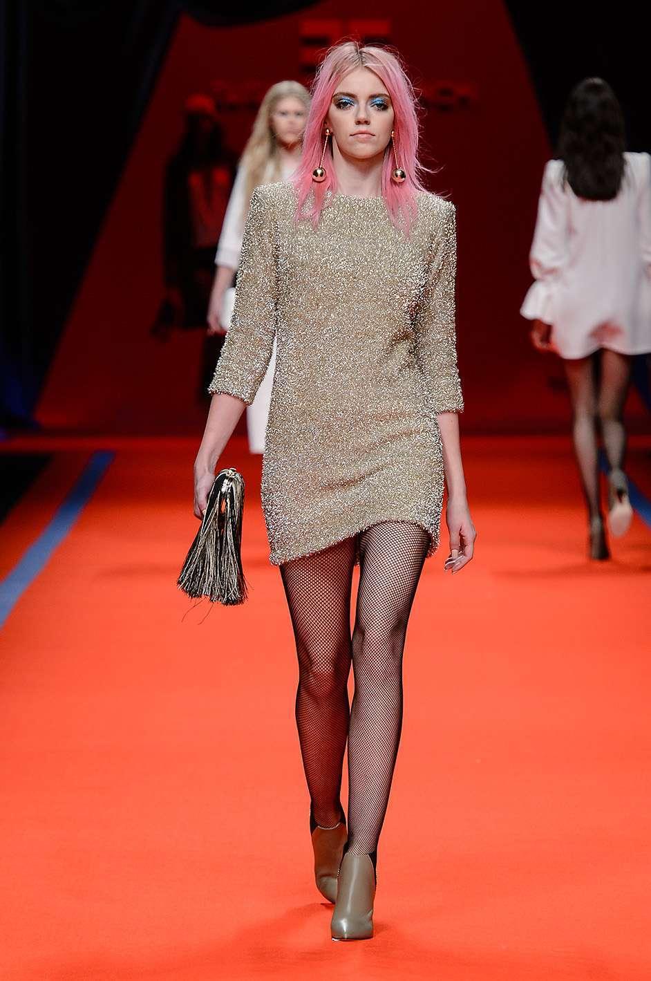 Minidress glitter Elisabetta Franchi