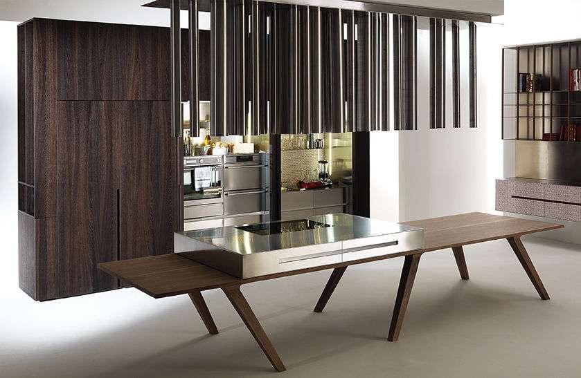 Cucine a scomparsa @HOME by C+S Architects di Elmar