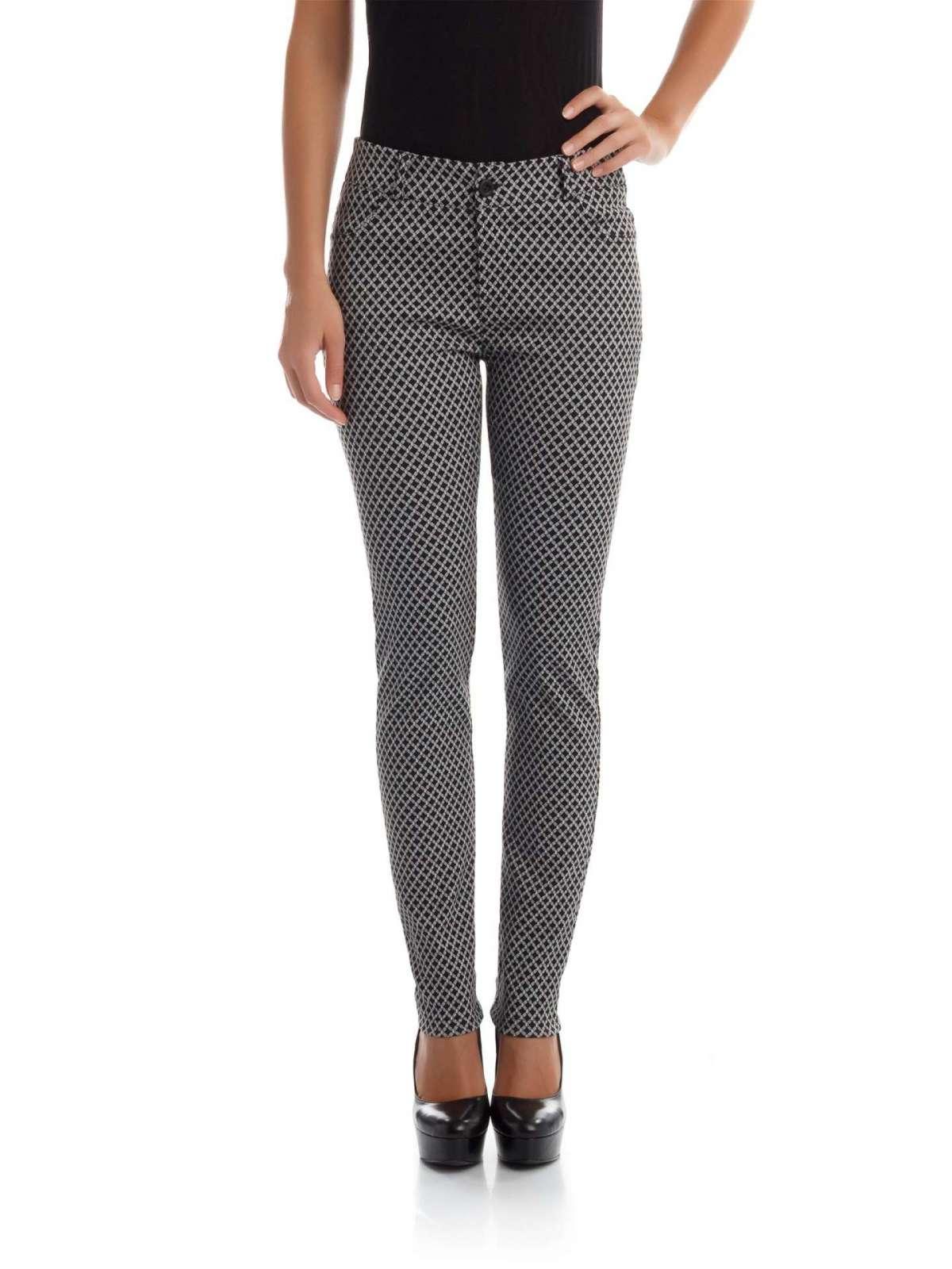 Pantaloni bicolor