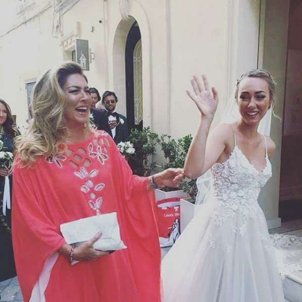 Romina Power con la sposa
