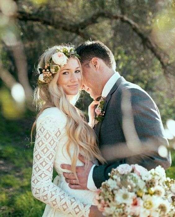 Acconciatura boho chic da sposa