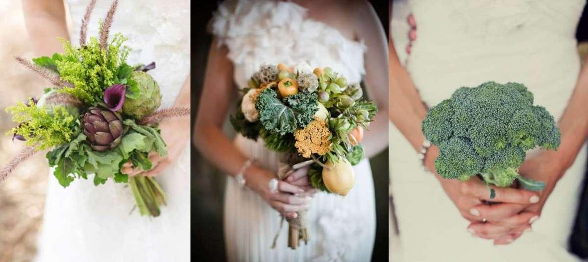 Bouquet vegetali da sposa