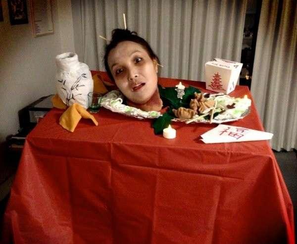 Costume da cibo cinese per Halloween