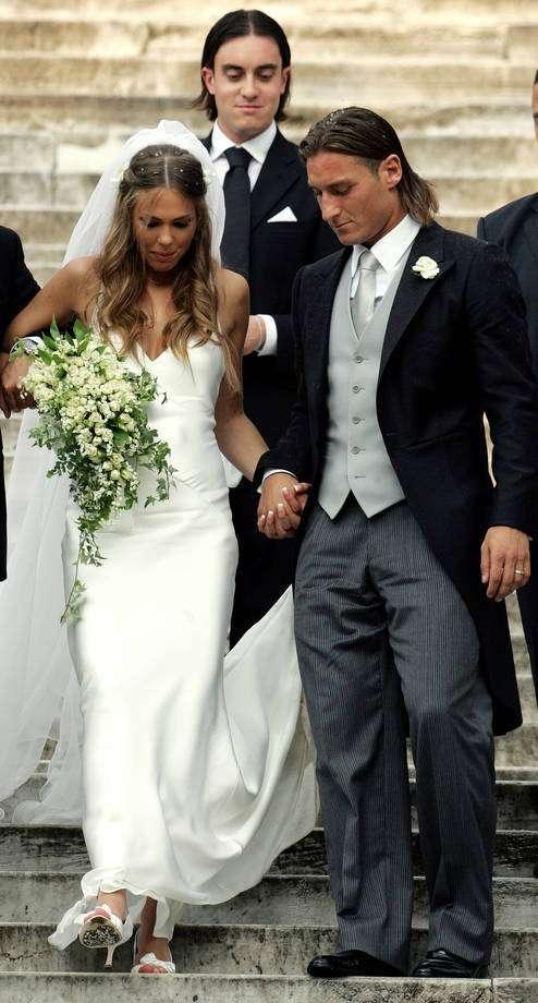 L'abito da sposa di Ilary Blasi