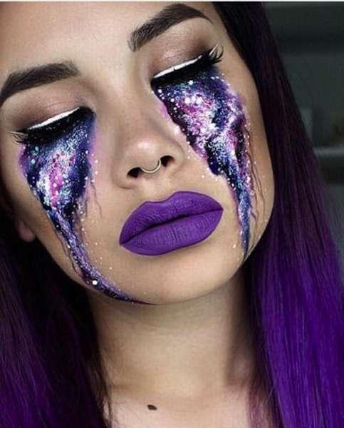 Lacrime stile galassia per Halloween