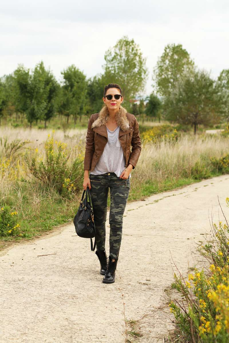 Look military chic