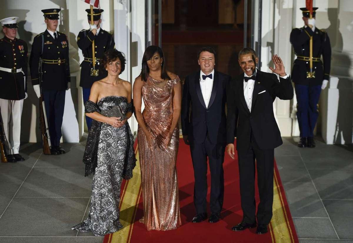 Matteo e Agnese Renzi alla Casa Bianca