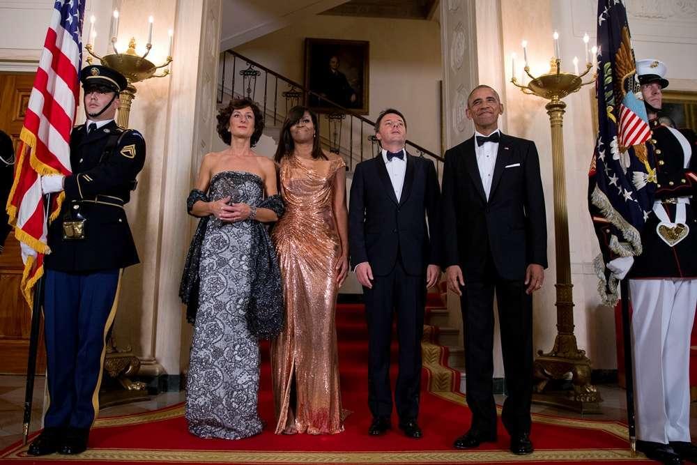 Matteo Renzi e Agnese Landini in visita ufficiale negli Usa
