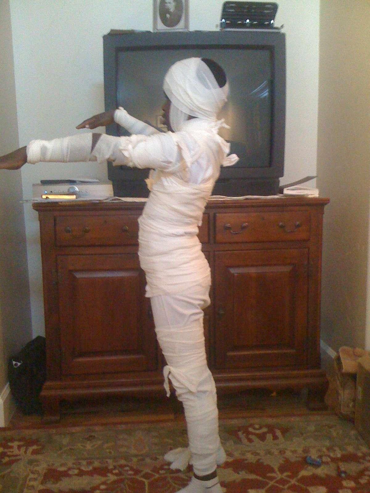 Mummia con garze