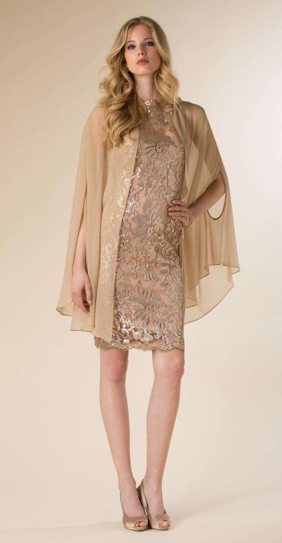 Outfit con paillettes champagne ed oro