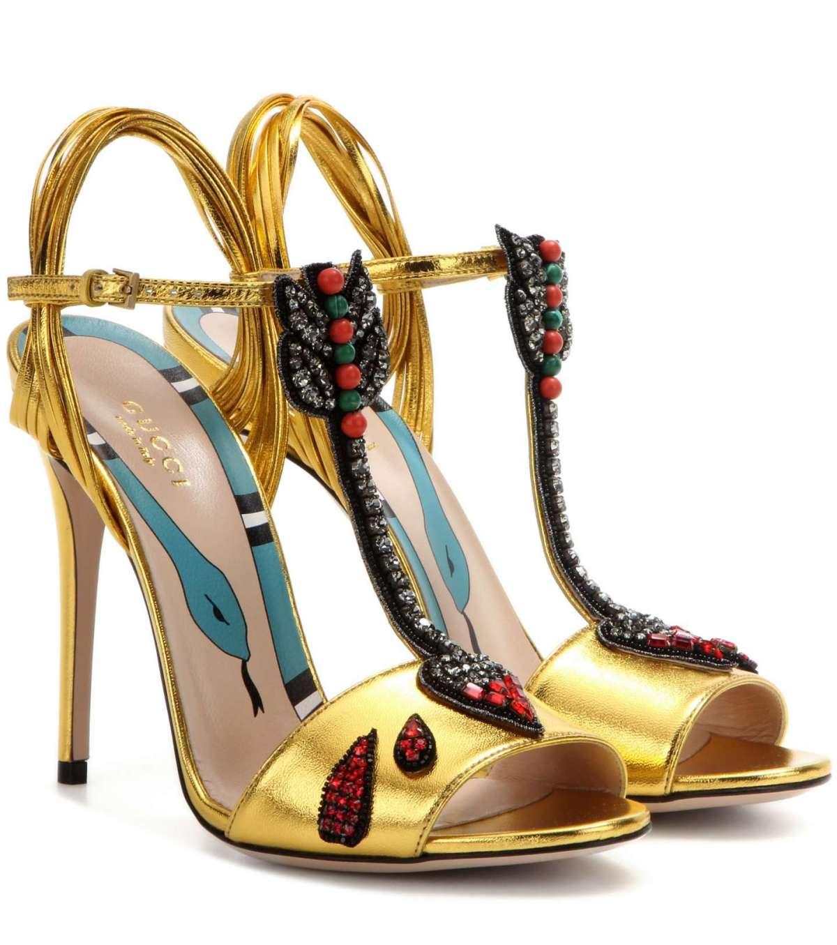 Sandali con cristalli Gucci